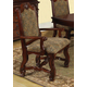 Acme Amaryllis Fabric Upholstered Arm Chair (Set of 2) in Cherry 60128