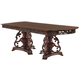 Acme Gwyneth Double Pedestal Dining Table in Cherry 61860