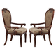 Acme Gwyneth Dining Arm Chair (Set of 2) in Cherry 61864