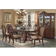 Acme Gwyneth 7PC Double Pedestal Dining Room Set in Cherry