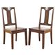 Chimerin Barstool  in Medium Brown (Set of 2) D599-124