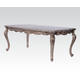 Acme Chantelle Two Leaves Extension Leg Dining Table in Antique Platinum 60547 PROMO