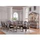 Acme Chantelle 9PC Dining Room Set in Antique Platinum