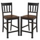 Owingsville Barstool  in Black & Brown (Set of 2) D580-224