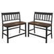 Owingsville Splat Back Double Barstool  in Black & Brown (Set of 2) D580-323