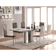 Coaster Broderick Rectangular Dining Table Set in White
