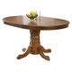 Coaster Brooks Round-Oval Pedestal Dining Table in Oak 104261