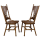 Coaster Brooks Side Chair in Oak (Set of 2) 104262