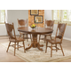 Coaster Brooks 5-pc Round-Oval Dining Table Set in Oak