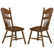Coaster Brooks Side Chair with Turned Spindles in Oak (Set of 2) 104272