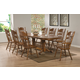 Coaster Brooks 9-pc Oval Dining Table with Trestle Base Set in Oak
