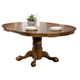 Coaster Brooks Round-Oval Pedestal Dining Table in Oak 104270