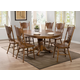Coaster Brooks 7-pc Round-Oval Dining Table Set in Oak