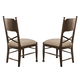 Coaster Camilla Side Chair in Brown Cherry (Set of 2) 104572
