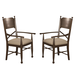 Coaster Camilla Arm Chair in Brown Cherry (Set of 2) 104573