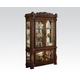 Acme Vendome Curio Cabinet with Mirror Back in Cherry 62023 SPECIAL