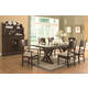 Coaster Camilla 7-pc Rectangular Dining Table Set in Brown Cherry