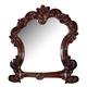 Acme Vendome Landscape Mirror with Intricate Details in Cherry 22004 SPECIAL