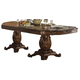Acme Vendome Double Pedestal Dining Table with Two Leaves in Cherry 62000 CLEARANCE