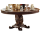 Acme Vendome Single Pedestal Round Dining Table with 60