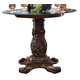 Acme Vendome Round Counter Height Table with Beveled Glass Top in Cherry 62030