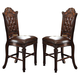 Acme Vendome Counter Height Chair with Tufted Back (Set of 2) in Cherry 62034 CLEARANCE PROMO