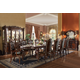Acme Vendome 11PC Double Pedestal Dining Room Set in Cherry