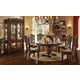 Acme Vendome 7PC Single Pedestal Round Dining Room Set in Cherry