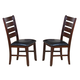 Coaster Imperial Ladder Back Side Chair in Restic Oak 101882 (Set of 2)