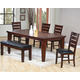 Coaster Imperial 7-pc Rectangular Dining Table in Rustic Oak