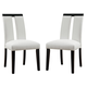 Coaster Kenneth Side Chair with Vinyl in White (Set of 2) 104563