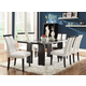 Coaster Kenneth 7-pc Rectangular Dining Table with LED Light Set