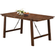 Coaster Lawson Counter Height Dining Table in Rustic Oak 104188