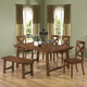 Coaster Lawson 7-pc Rectangular Dining Table Set in Rustic Oak
