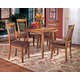 Berringer 5-Piece Square Drop Leaf  w/ Side Chairs Dining Set