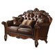 Acme Vendome Loveseat with 2 Pillows in Cherry 52002 SPECIAL