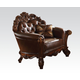 Acme Vendome Upholstered Chair with 1 Pillow in Cherry 52003 SPECIAL