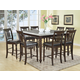 Acme Ansley 9PC Counter Height Dining Room Set with Granite Top in Espresso