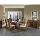 Somerton Milan 7pc Formal Dining Room Set in Brown Stain 153DR