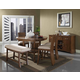 Somerton Milan 6pc Counter Height Dining Table Set in Brown Stain 153DR