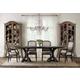 Hooker Furniture Corsica 7pc Rectangle Pedestal Dining Table Set in Dark Espresso