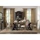 Hooker Furniture Corsica 7pc Rectangle Pedestal Dining Table Set in Dark Espresso w/ Light Top