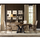 Hooker Furniture Corsica 5pc Round Dining Table Set in Dark Espresso w/ Light FinishTop