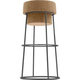 Domitalia Bouchon-SGA Bar Stool in Cork and Anthracite (Set of 2)