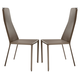 Domitalia Cliff Chair in Taupe (Set of 2)