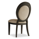 Hooker Furniture Corsica Upholstered Oval Back Side Chair in Antiqued Espresso 5280-75412