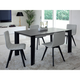 Domitalia Maxim/182 5pc Extension Dining Room Set with Flexa/LX Arm Chairs in Anthracite