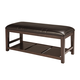 Ashley Watson Large Upholstered Dining Room Bench in Dark Brown D541-00