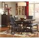 Ashley Watson 5pc Rectangular Dining Room Set in Dark Brown