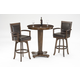 Hillsdale Ambassador 3pc Pub Set with Swivel Bar Stools in Medium Brown Cherry